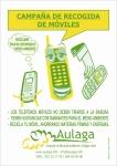 Cartel para el reciclaje de teléfonos móviles.